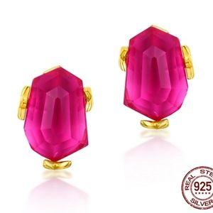 Pink Topaz Stud Earrings